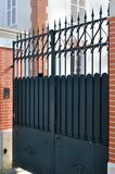 Black metal gate Stock Photo