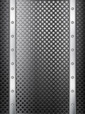 Black metal grid background vertical Royalty Free Stock Photography