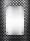 Black metal grid and plate vertical Stock Photo