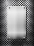 Black metal grid and plate vertical Stock Image