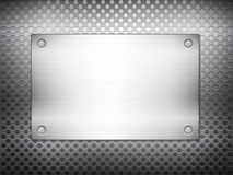 Black metal grid square plate Royalty Free Stock Photos