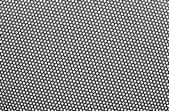 Black metal lattice with round apertures. Stock Photos