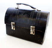 Black metal lunchbox Stock Photo
