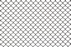 Black metal mesh fence isolated on white Royalty Free Stock Photos