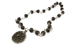 Black metal necklace Royalty Free Stock Photo