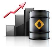 Black metal oil barrel Royalty Free Stock Photo