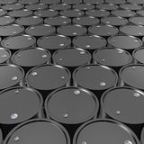 Black Metal Oil Barrels Background. Black Metal Oil Barrels Background, Industrial Concept Royalty Free Stock Photography