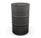 Black metal oil drum. 3d. Black metal oil drum  on white background. 3d illustration Royalty Free Stock Image