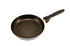 A black metal pan isolated on white Stock Photography