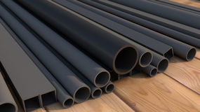 Black metal pipe Royalty Free Stock Photos