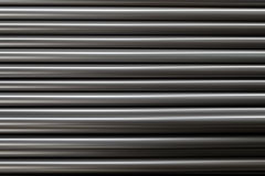 Black metal pipe steel sort stacked Stock Photos