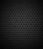 Black metal or plastic texture with holes Stock Photo