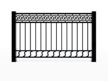 Black metal railing Stock Photo