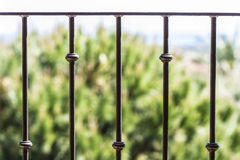 Black metal railing Stock Image