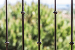 Black metal railing Stock Photo