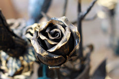 Black metal rose Royalty Free Stock Photo