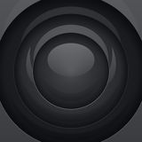 Black metal round shapes Royalty Free Stock Image