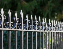 Black Metal Spiked Wrought Iron Fence Oxford Royalty Free Stock Photography