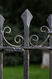 Black Metal Spiked Wrought Iron Fence Oxford Royalty Free Stock Images