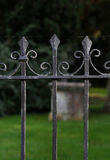 Black Metal Spiked Wrought Iron Fence Oxford Stock Photography