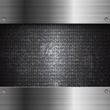 Black metal technology abstract background royalty free illustration