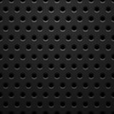 Black metal texture with holes Royalty Free Stock Image
