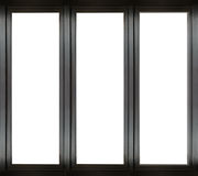 Black metal window frame Royalty Free Stock Photography
