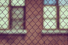 Black Metal Wire Mesh Fence Royalty Free Stock Photos