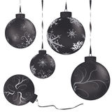 Black Metalic christmas balls Stock Photography