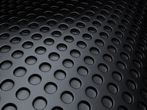 Black metallic background with perforation Royalty Free Stock Photos