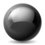 Black metallic ball Royalty Free Stock Images