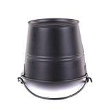 Black Metallic bucket Royalty Free Stock Photography