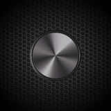 Black metallic button on mesh Royalty Free Stock Image