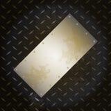 Black metallic diamond plate with grunge brushed metal panel Stock Photography