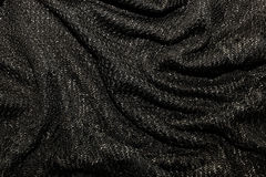 Black metallic fabric pattern texture background Royalty Free Stock Photo