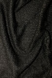 Black metallic fabric pattern texture fashion background Royalty Free Stock Photos