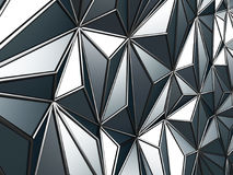 Black metallic industrial triangular abstract background. 3d render illustration Royalty Free Stock Photos