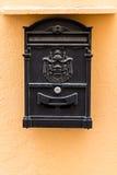Black metallic Mailbox Stock Photos