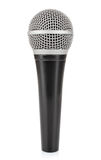 Black metallic microphone Stock Images