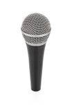 Black metallic microphone for voice recording Royalty Free Stock Image