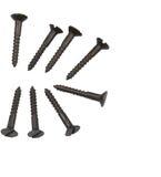 Black metallic screws Stock Image