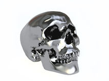 Black Metallic Skull Royalty Free Stock Images