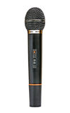 Black microphone. Black radio microphone on the white backgrounde Royalty Free Stock Images