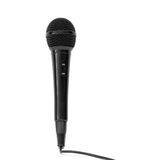 Black microphone. Isolated on a white background Stock Image