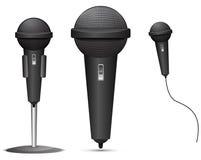 Black Microphone Stock Photos