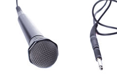 Black microphone Stock Image
