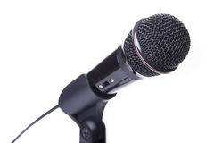 Black microphone Stock Photography