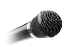 Black microphone. Over white Stock Photography