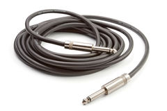 Black microphone cable Stock Photos