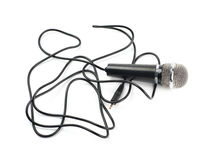 Black microphone composition isolated Stock Images